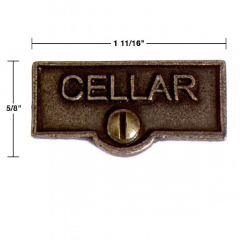 spec-<PRE>2 Switch Plate Tags CELLAR Name Signs Labels Cast Brass </PRE>