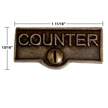 spec-<PRE>2 Switch Plate Tags COUNTER Name Signs Labels Cast Brass </PRE>