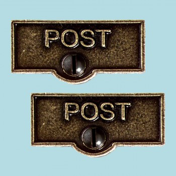 <PRE>2 Switch Plate Tags POST Name Signs Labels Cast Brass </PRE>zoom2