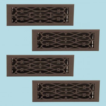 <PRE>4 Floor Heat Register Louver Vent Steel 5 3/4 x 11 3/4 Duct </PRE>zoom2