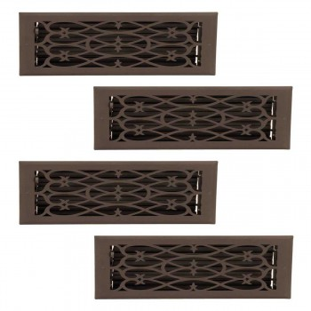 <PRE>4 Floor Heat Register Louver Vent Steel 5 3/4 x 11 3/4 Duct </PRE>zoom1