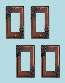 <PRE>4 Switchplate Antique Copper Light Switch Pineapple GFI </PRE>zoom2