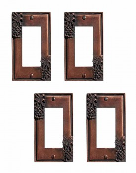 <PRE>4 Switchplate Antique Copper Light Switch Pineapple GFI </PRE>zoom1