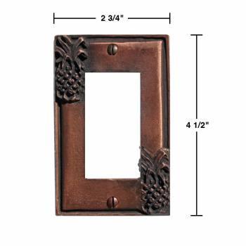 spec-<PRE>4 Switchplate Antique Copper Light Switch Pineapple GFI </PRE>