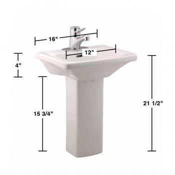 spec-<PRE>6 Children's White Pedestal Sinks Vitreous China Set of 6 </PRE>