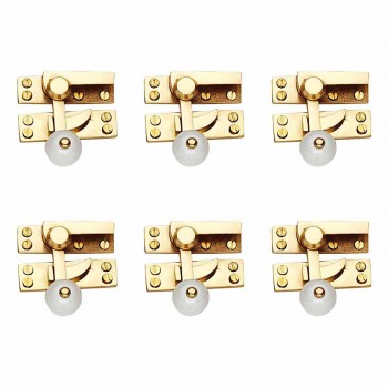 <PRE>6 Traditional Window Sash Lock Solid Brass Porcelain Knob </PRE>