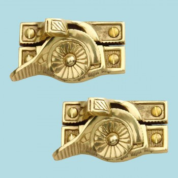 <PRE>2 Ornate Window Sash Lock Bright Solid Brass </PRE>zoom2