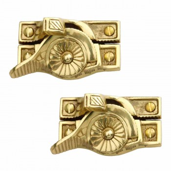 <PRE>2 Ornate Window Sash Lock Bright Solid Brass </PRE>zoom1
