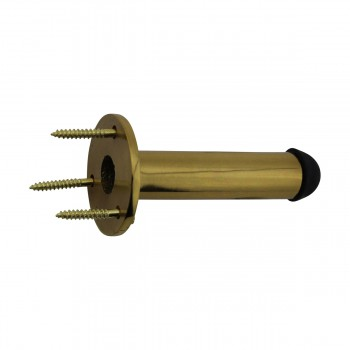 <PRE>2 Door Stop Polished Brass Solid Brass Tipped Tubular Bumper | RS</PRE>zoom9