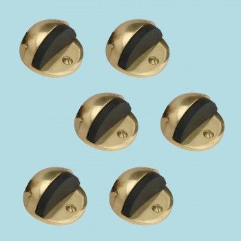 <PRE>6 Brass Door Stop Dome Floor Mount Bumper </PRE>zoom2