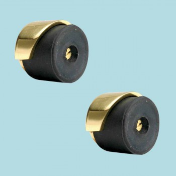 <PRE>2 Door Bumpers Polished Brass Floor/Wall Mount Set of 2 </PRE>zoom2