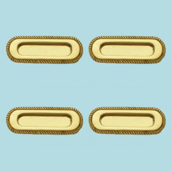 <PRE>4 Georgian Rope Recessed Sash Lift Bright Brass </PRE>zoom2