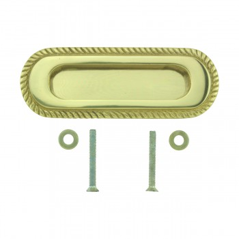 <PRE>4 Georgian Rope Recessed Sash Lift Bright Brass </PRE>zoom8