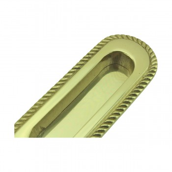 <PRE>4 Georgian Rope Recessed Sash Lift Bright Brass </PRE>zoom9