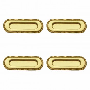 <PRE>4 Georgian Rope Recessed Sash Lift Bright Brass </PRE>zoom1