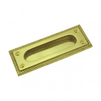 <PRE>6 Georgian Rope Recessed Sash Lift Bright Brass </PRE>zoom4