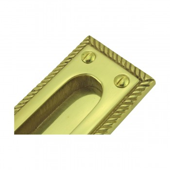 <PRE>6 Georgian Rope Recessed Sash Lift Bright Brass </PRE>zoom9