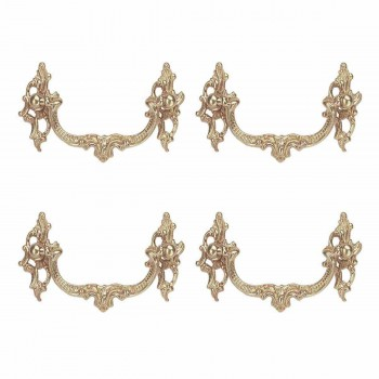 Bright Solid Brass Ornate Bail Pull