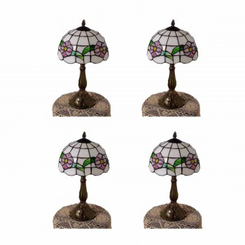 4 Table Lamp Brass  Style Lamp 18.75H Multicolor Lamp Table Lights Lamps