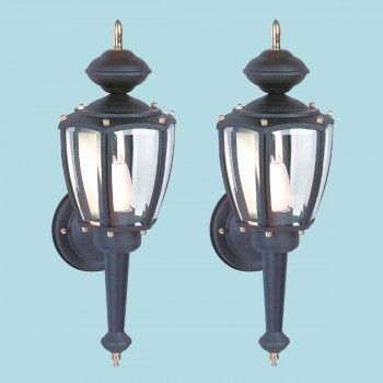 <PRE>2 Outdoor Lighting Black Aluminum 5 Panel Outdoor Lamp </PRE>zoom2