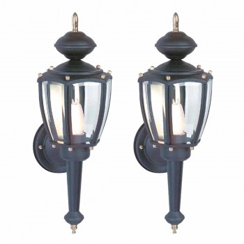 2 Outdoor Lighting Black Aluminum 5 Panel Outdoor Lamp Outdoor Light Outside Light Outdoor Lights