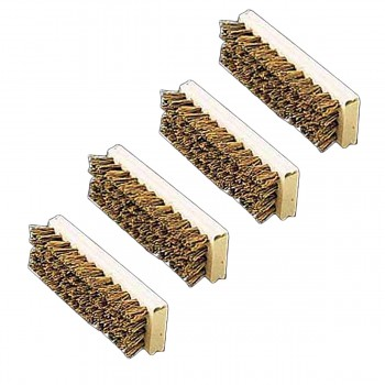 <PRE>2 Boot Scraper Natural Wood Replacement Bristle Brush </PRE>