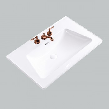 Self Rimming for Bathroom White Grade A Porcelain Centerset White Drop In Sink Dropin Bathroom Sink Drop In Rectangular Bathroom Sink