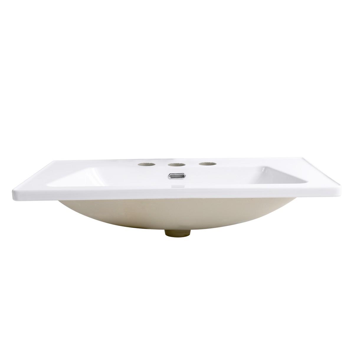 Self Rimming for Bathroom White Grade A Porcelain Centerset White Drop In Sink Dropin Bathroom Sink Drop In Rectangular Bathroom Sink