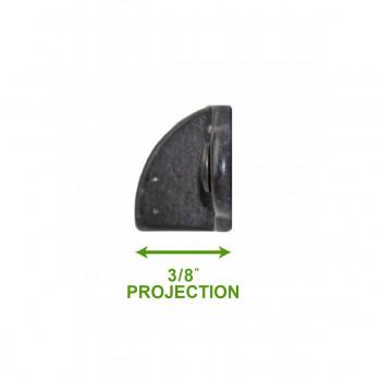 spec-<PRE>4 Bin Pull Black On Brass Bin 3 1/4&quot; W X 2 3/4&quot; Boring </PRE>