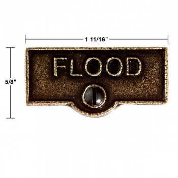 spec-<PRE>10 Switch Plate Tags FLOOD Name Signs Labels Cast Brass </PRE>