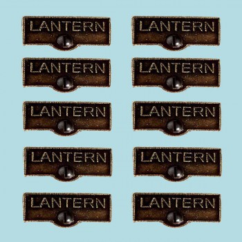 <PRE>10 Switch Plate Tags LANTERN Name Signs Labels Cast Brass </PRE>zoom2