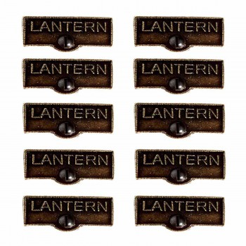 <PRE>10 Switch Plate Tags LANTERN Name Signs Labels Cast Brass </PRE>zoom1