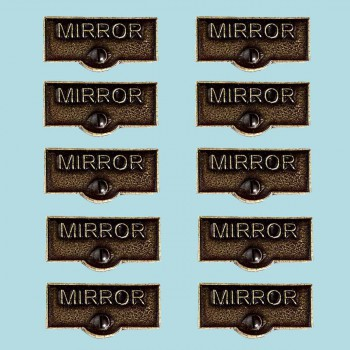 <PRE>10 Switch Plate Tags MIRROR Name Signs Labels Cast Brass </PRE>zoom2