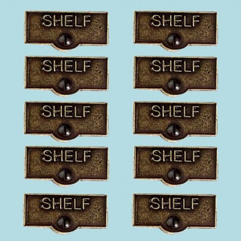 10 Switch Plate Tags SHELF Name Signs Labels Cast Brass Switch Plate Labels Switch Plate ID Labels Switch Plate Label