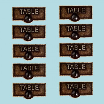 10 Switch Plate Tags TABLE Name Signs Labels Cast Brass Switch Plate Labels Switch Plate ID Labels Switch Plate Label