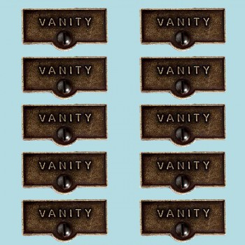 10 Switch Plate Tags VANITY Name Signs Labels Cast Brass Switch Plate Labels Switch Plate ID Labels Switch Plate Label