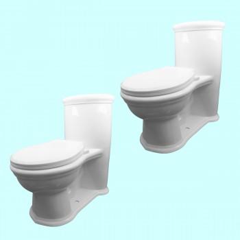 <PRE>2 Child's Toilet White Round Small Toilet Set Of 2</PRE>zoom2
