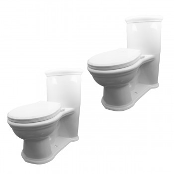 2 Child's White Round Small Toilet Set of 2