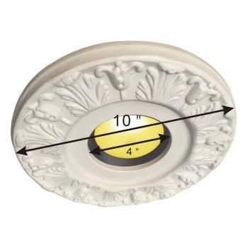 spec-<PRE>5 Spot Light Ring White Trim 4&quot; ID x 10&quot;OD Mini Medallion </PRE>