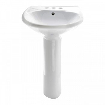 <PRE>White Bathroom Sink Pedestal Sink Grade A Vitreous China Set of 4</PRE>zoom3
