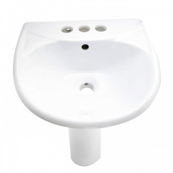 <PRE>White Bathroom Sink Pedestal Sink Grade A Vitreous China Set of 4</PRE>zoom4