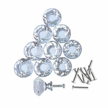 <PRE>Clear Glass Cabinet Knobs 1.8 Inch Projection Mushroom Pack of 30 pcs</PRE>zoom5