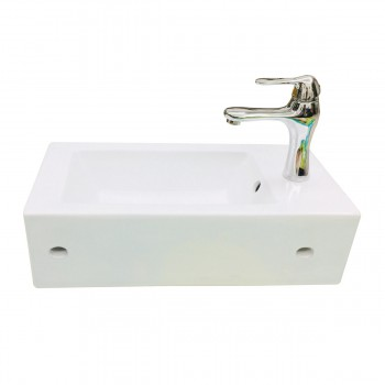 <PRE>Small Wall Mount Bathroom Sink Rectangle Shape with Overflow </PRE>zoom4