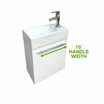 spec-<PRE>Bathroom Sink White Vanity with Towel Bar, Faucet and Drain Wall Mount Set of 2</PRE>