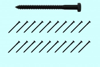 <PRE>5/16inch x 4&quot; Lag Bolt Black Zinc Plated Steel 20 Pack </PRE>zoom2