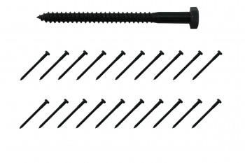 516 x 4 Lag Bolt Black Zinc Plated Steel 20 Pack