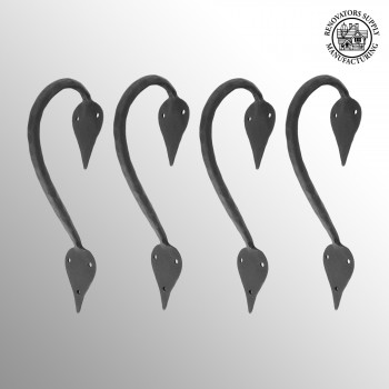 "spec-<PRE>4 9"" Door Handle Pull Wrought Iron ""Inverted Spade"" Design</PRE>"