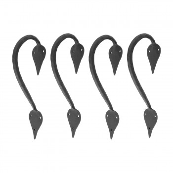 "<PRE>4 9inch Door Handle Pull Wrought Iron ""Inverted Spade"" Design</PRE>zoom1"