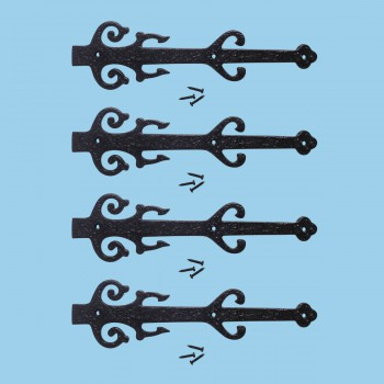 <PRE>12&quot; Wrought Iron Dummy Hinge &quot;Poseidon Design&quot; Pack of 4 </PRE>