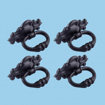 <PRE>3 1/8inch Ornate Drawer Ring Pull Pack of 4 </PRE>zoom2